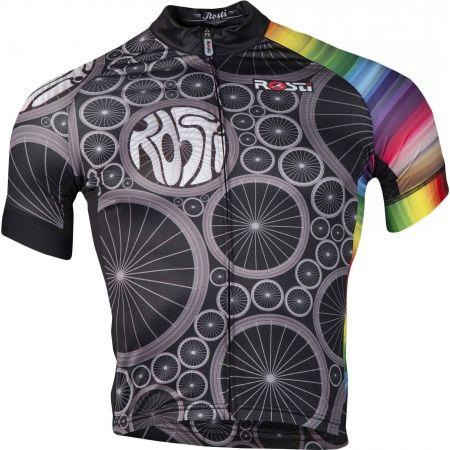 Pánsky cyklistický dres - Rosti WHEELS DL ZIP - 1