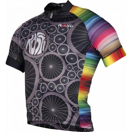 Pánsky cyklistický dres - Rosti WHEELS DL ZIP - 2