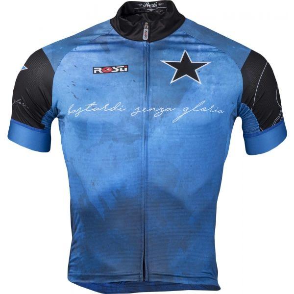 Rosti BASTARDI DL ZIP modrá 5xl - Pánský cyklistický dres