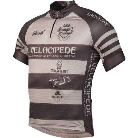 Pánský cyklistický dres - Rosti VELOCIPEDE KR ZIP - 2