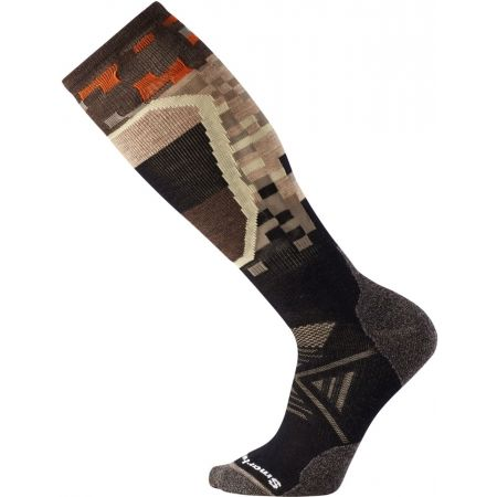 Men's ski knee high socks - Smartwool PHD SKI MEDIUM PATTERN - 1