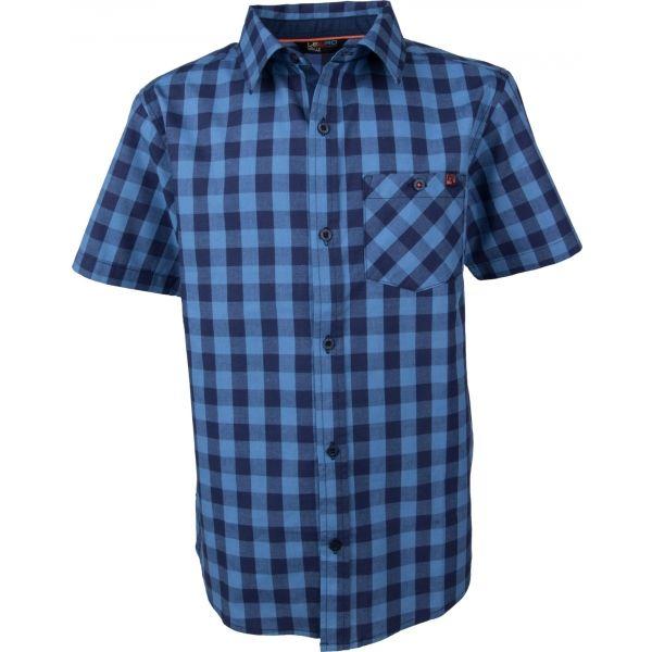 Lewro PAUL modrá 164-170 - Košeľa s krátkym rukávom