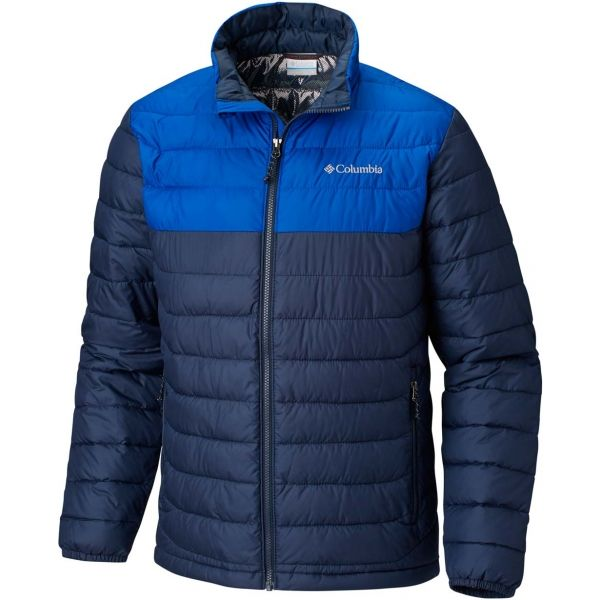 Columbia POWDER LITE JACKET tmavo modrá XXL - Pánska zimná bunda
