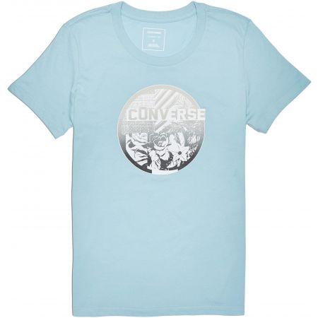Дамска тениска - Converse FLORAL COLLAGE CREW TEE