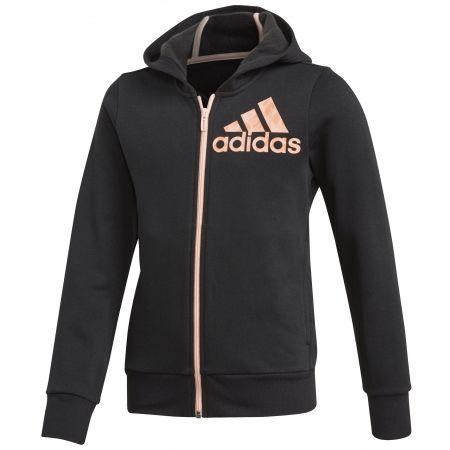 adidas YG GRAPHIC FZ HD - Girls' sweatshirt