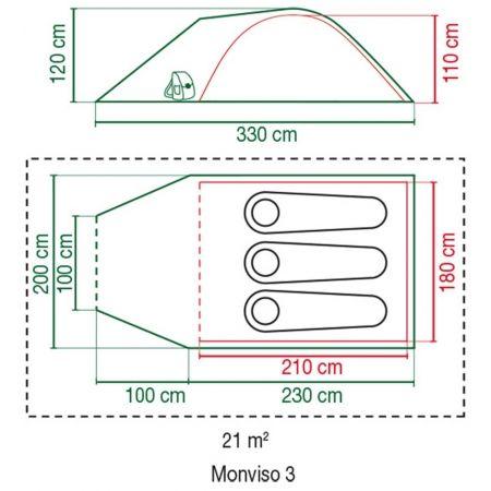 Tent - Coleman MONVISO 3 - 4