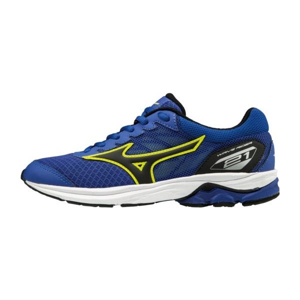 Mizuno WAVE RIDER 21 JR modrá 2 - Dětská běžecká obuv