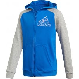 adidas COMMERCIAL PACK FULL ZIP HOODIE - Суитшърт за момчета