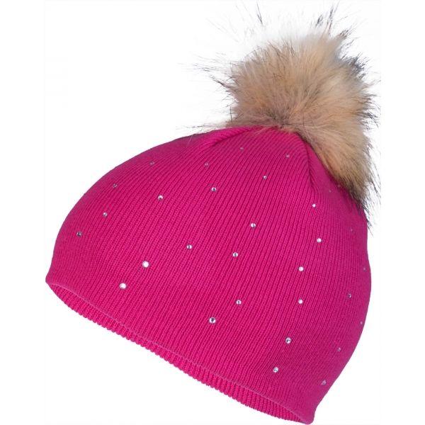 Lewro ROSA růžová 4-7 - Dívčí pletená čepice