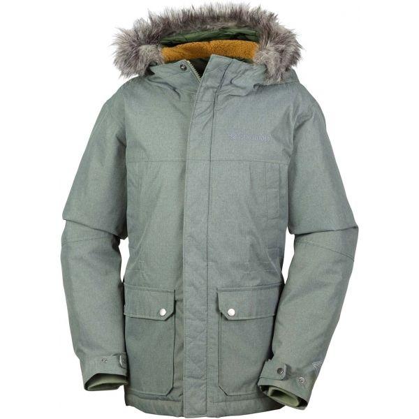 Columbia SNOWFIELD JACKET zelená L - Dětská zimní bunda