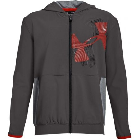 Dětská mikina - Under Armour WOVEN WARM UP JACKET - 1