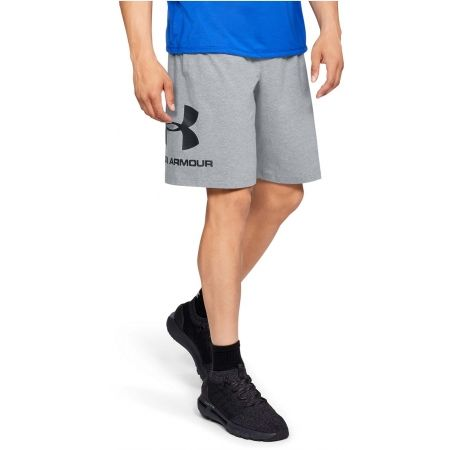 Pánske šortky - Under Armour SPORTSTYLE COTTON GRAPHIC SHORT - 3