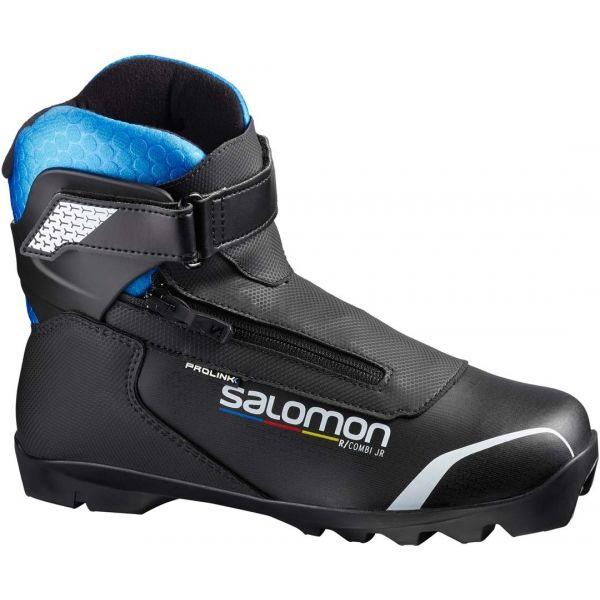 Salomon R/COMBI PROLINK JR fekete 7.5 - Junior sífutó cipő kombinált stílusra