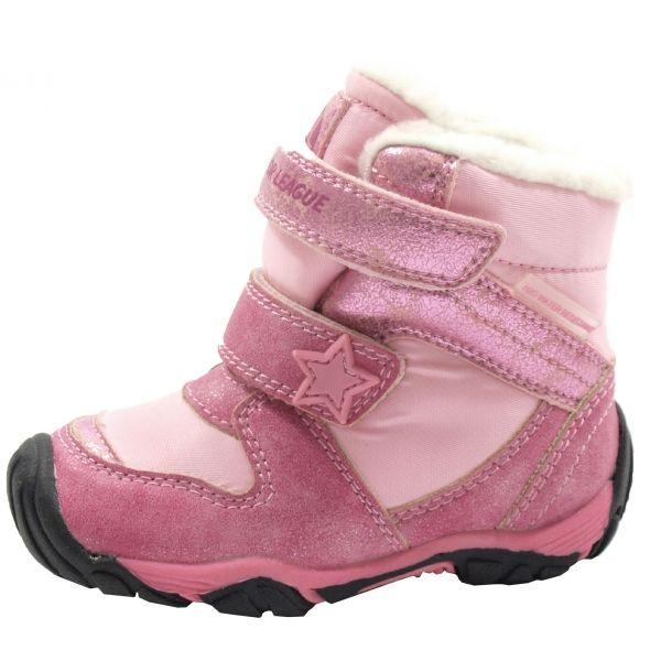 Junior League VERA růžová 24 - Dětská zimní obuv