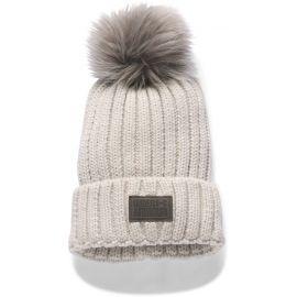 Under Armour SNOWCREST POM BEANIE - Dámska pletená čiapka