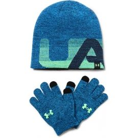 Under Armour BOY'S BEANIE/GLOVE COMBO - Детска зимна шапка и ръкавици