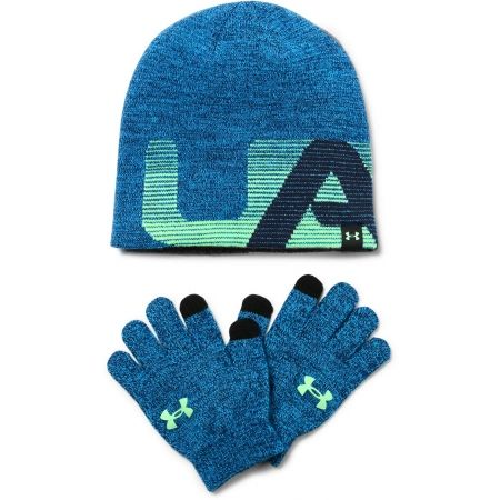 fe5277aa7ef Children s winter hat and gloves - Under Armour BOY S BEANIE GLOVE COMBO - 1