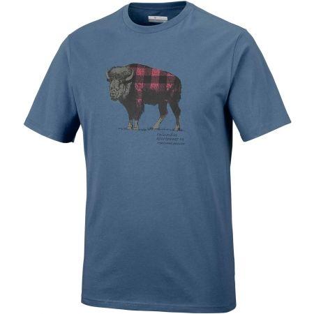 Pánske tričko - Columbia CSC CHECK THE BUFFALO II SHORT SLEEVE - 1