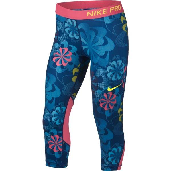 Nike NP CAPRI AOP1 modrá XL - Dívčí sportovní legíny