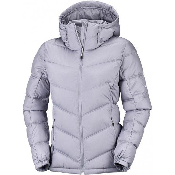 Columbia PIKE LAKE HOODED JACKET W šedá M - Dámská zimní bunda