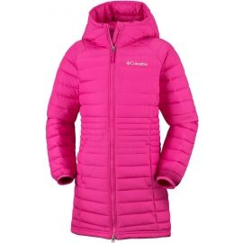 Columbia POWDER LITE GIRLS MID JACKET - Dievčenský kabát