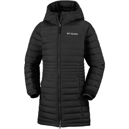 Dievčenský kabát - Columbia POWDER LITE GIRLS MID JACKET - 1