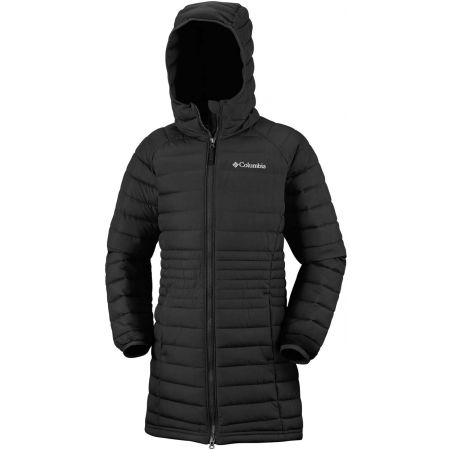 Dievčenský kabát - Columbia POWDER LITE GIRLS MID JACKET - 2