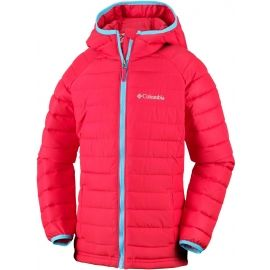 Columbia POWDER LITE GIRLS HOODED JACKET - Dievčenská nepremokavá bunda