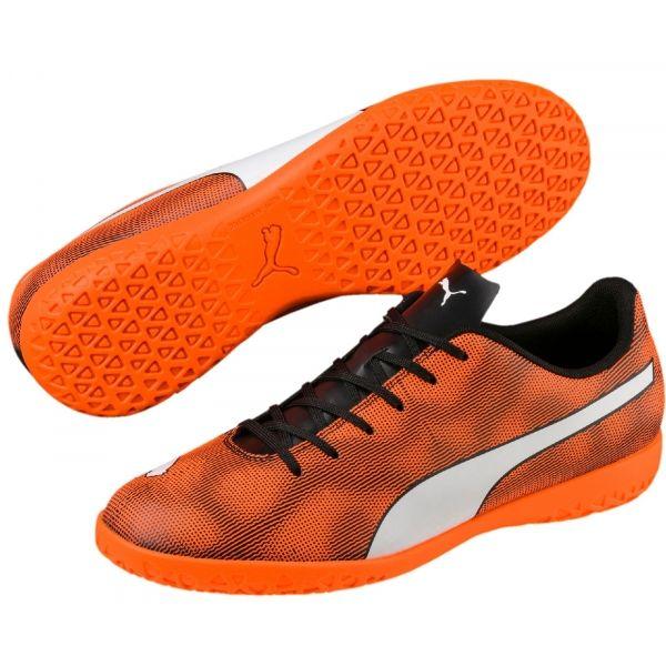 Puma RAPIDO IT oranžová 8.5 - Pánská sálová obuv
