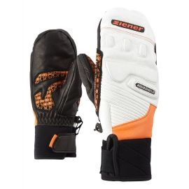 Ziener LISORO AS MITTEN JUNIOR ORANGE - Kids' ski gloves
