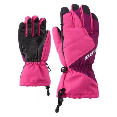 Detské lyžiarske rukavice - Ziener AGIL AS JUNIOR PURPLE