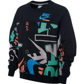 Nike W NSW CREW FLC AOP IDJ - Dámská mikina