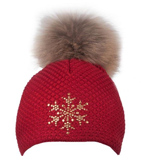 R-JET TOP FASHION BASIC červená UNI - Dámská pletená čepice