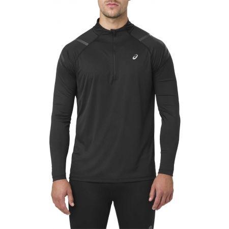 Pánské sportovní triko - Asics ICON LS 1/2 ZIP - 1