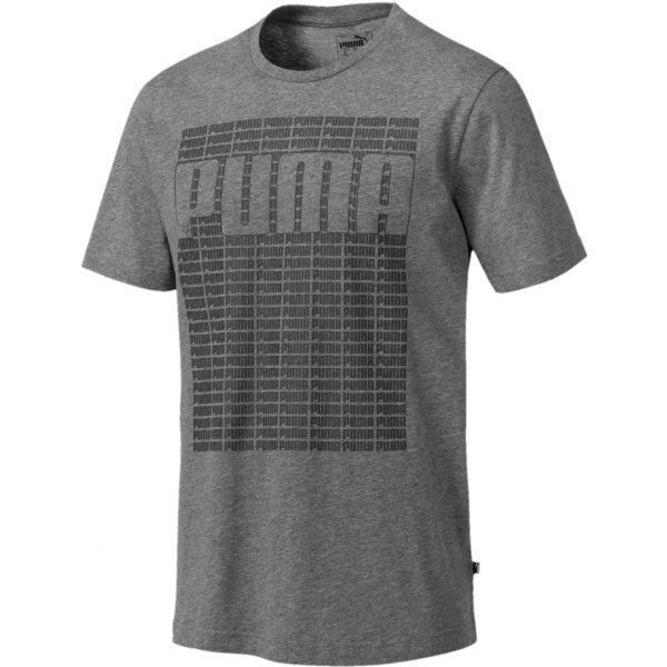 Puma WORDING TEE šedá XXL - Pánské tričko