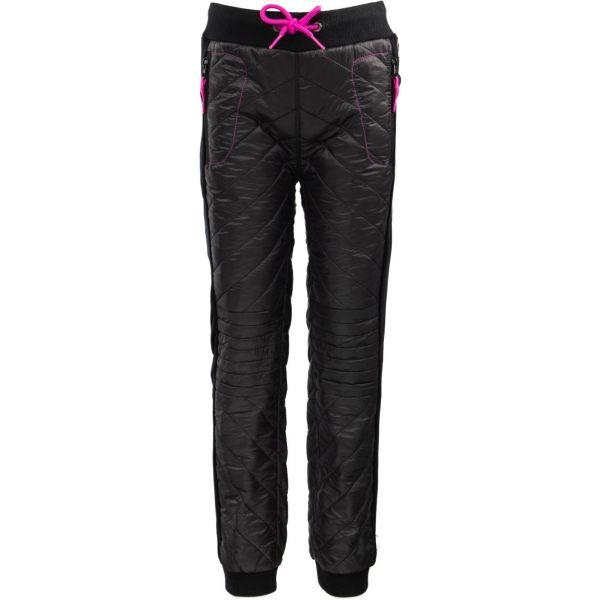 ALPINE PRO SICHO czarny 140-146 - Spodnie ocieplane dziecięce