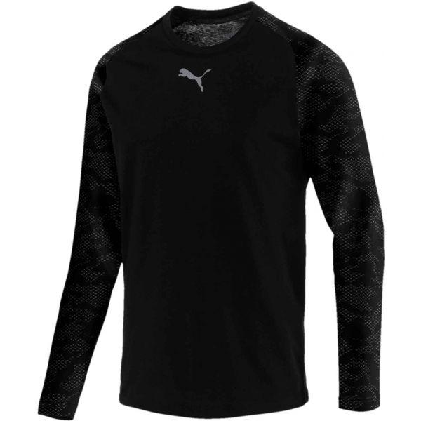 Puma MODERN SPORTS LS TEE černá XXL - Pánské tričko
