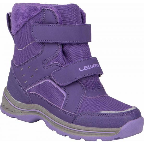 Lewro CRONUS fialová 26 - Dětská zimní obuv