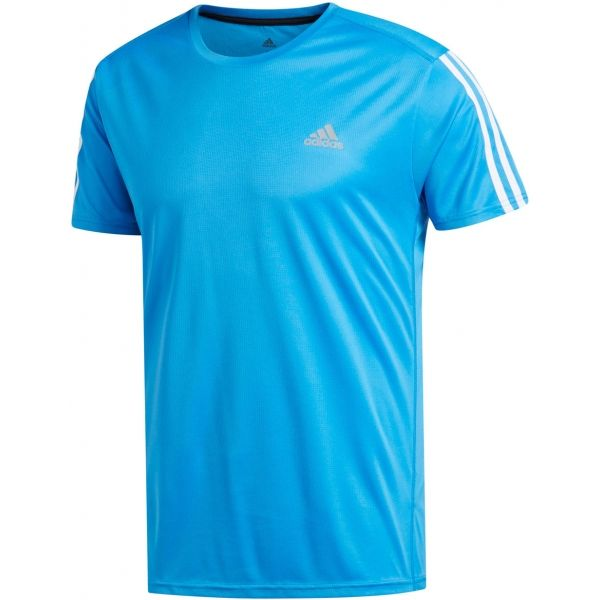 adidas RUN 3S TEE M modrá XL - Pánské tričko