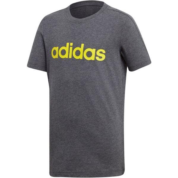 adidas LINEAR TEE szary 152 - Koszulka chłopięca