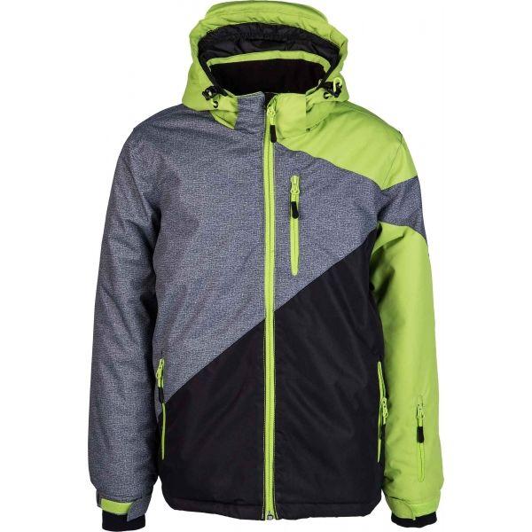 Lewro NEVIL zelená 140-146 - Dětská zimní bunda