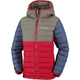 Columbia POWDER LITE BOYS HOODED JACKET - Chlapecká zateplená bunda