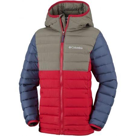 Columbia POWDER LITE BOYS HOODED JACKET - Chlapecká zateplená bunda