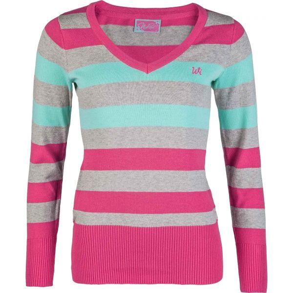 Willard RYLEE růžová M - Dámský pletený svetr