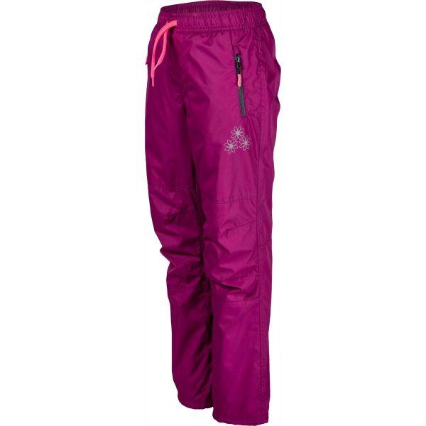 Lewro NILAN fialová 116-122 - Detské zateplené nohavice