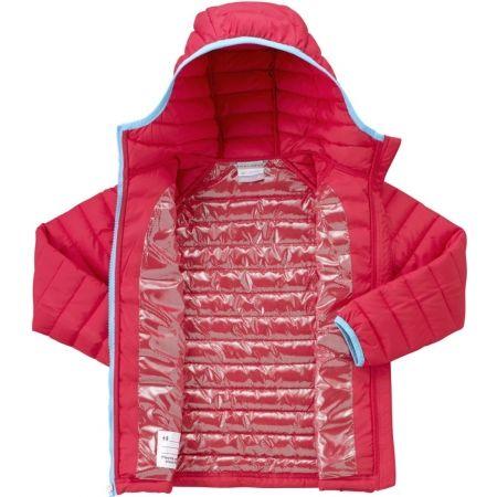 Dívčí zateplená bunda - Columbia POWDER LITE GIRLS HOODED JACKET - 4