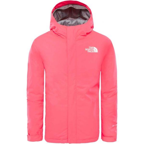 The North Face YOUTH SNOW QUEST JACKET růžová XL - Dětská zateplená bunda