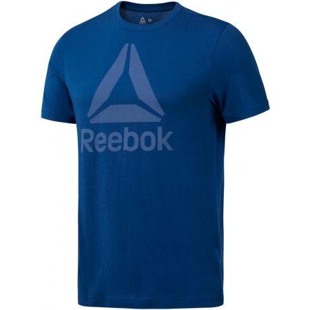 Мъжка тениска - Reebok QQR REEBOK STACKED - 1