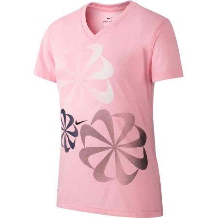 Dievčenské tričko - Nike NK DRY LEG TEE V SWOOSH - 1