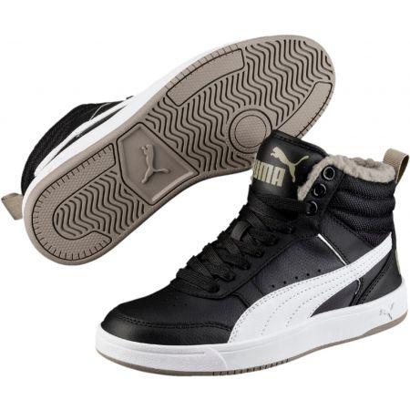 Puma REBOUND STREET V2 FUR JR - Detská zimná obuv